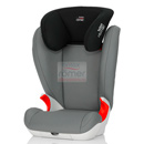 britax-romer kid ii steel grey